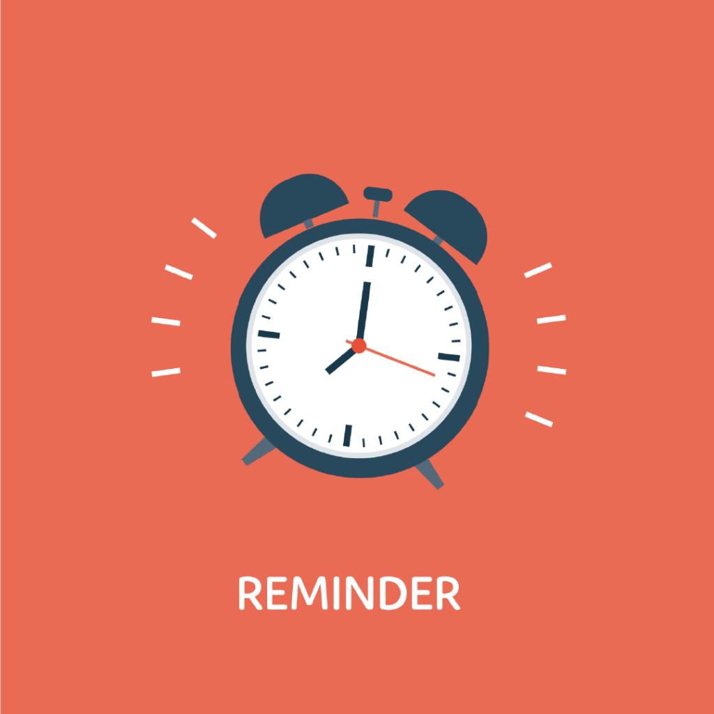 Reminder - leerlingen steeds op tijd